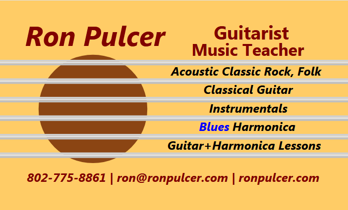 Ron Pulcer Music business card