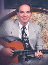 Ron Pulcer playing classical guitar